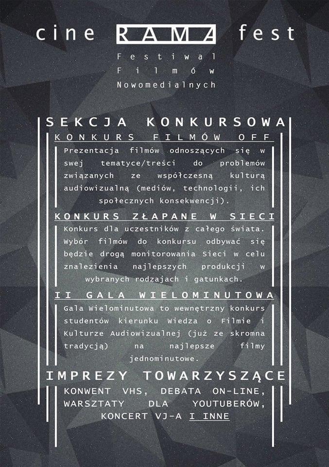 cineramafest program festiwalu