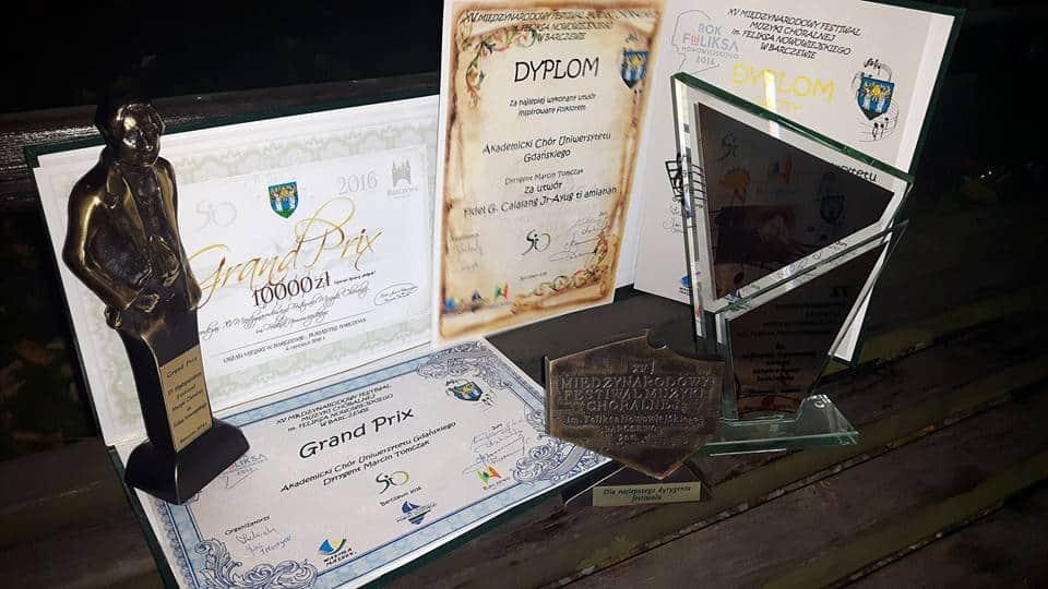 Sukces Akademickiego Chóru UG na XV Międzynarodowy Festiwal Muzyki Chóralnej im. Feliksa Nowowiejskiego