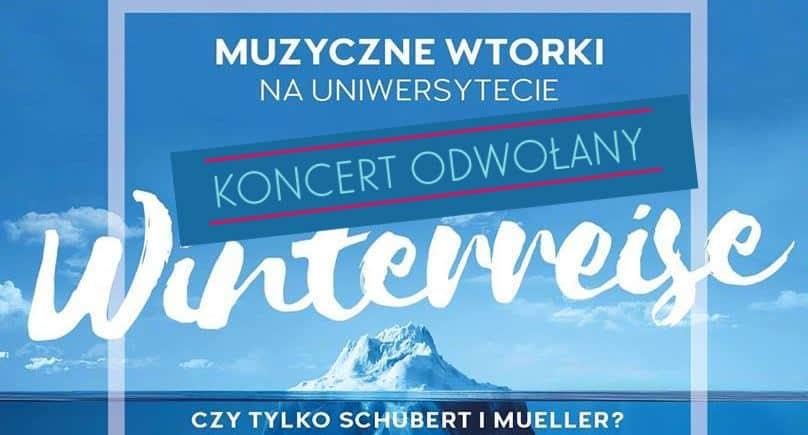 """Koncert """"Winterreise ODWOŁANY"""