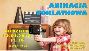 plakat - warsztaty animacji poklatkowej dla dzieci