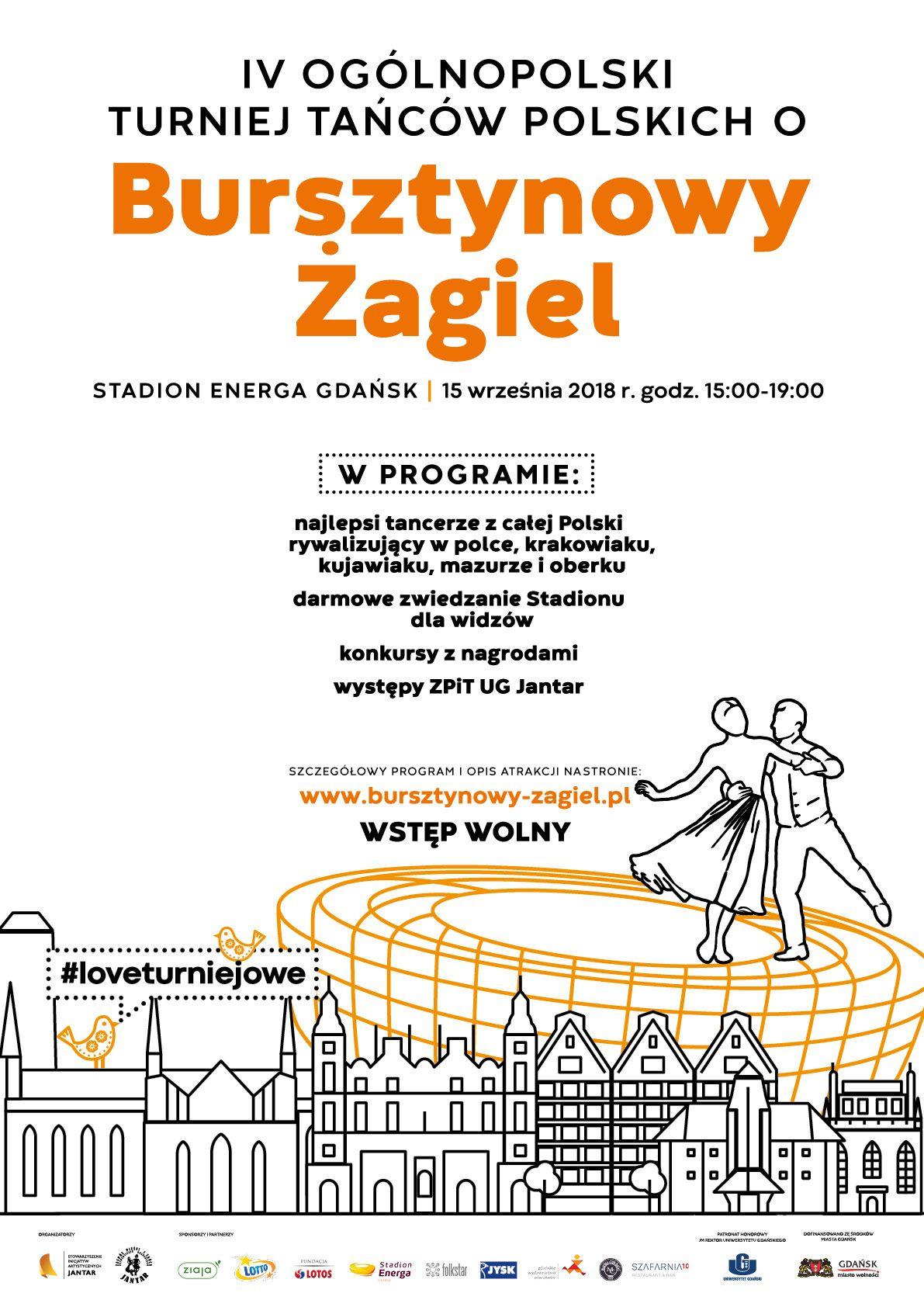Plakat turniej Bursztynowy żagiel 2018